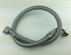 Stainles Braided Hose 55cm Elbow