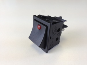Red 2 Pole Rocker Switch