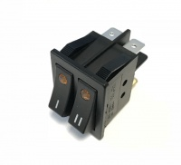 Rocker switch double